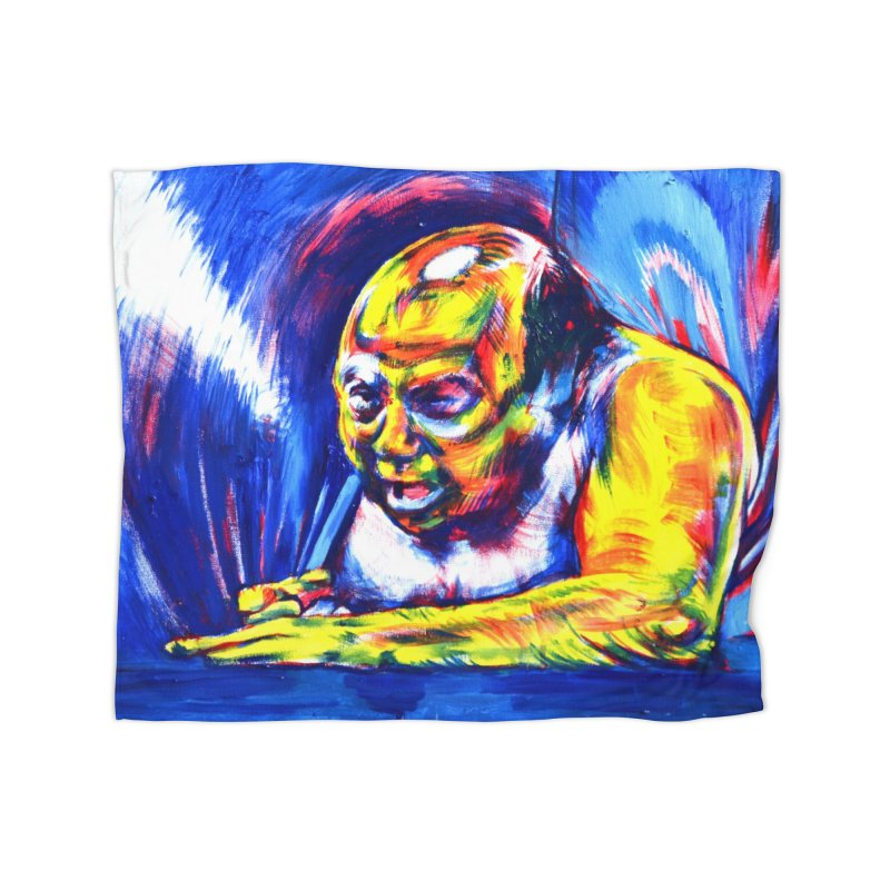 escape Home Fleece Blanket Blanket by paintings by Seamus Wray