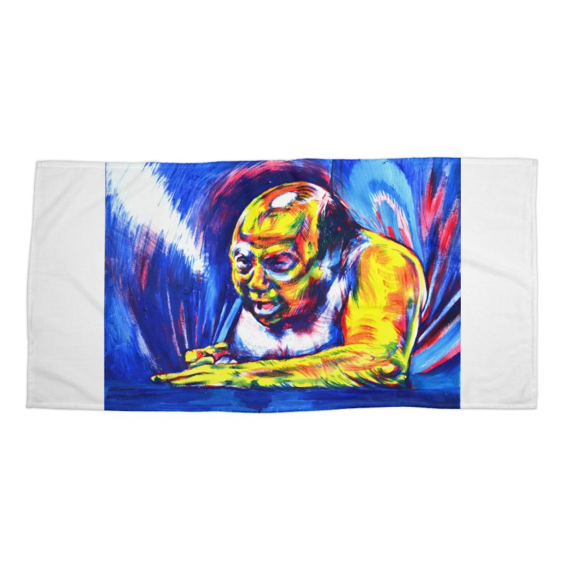 escape Accessories Beach Towel by paintings by Seamus Wray
