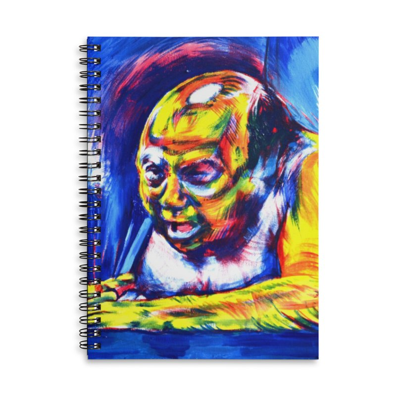 escape Accessories Lined Spiral Notebook by paintings by Seamus Wray