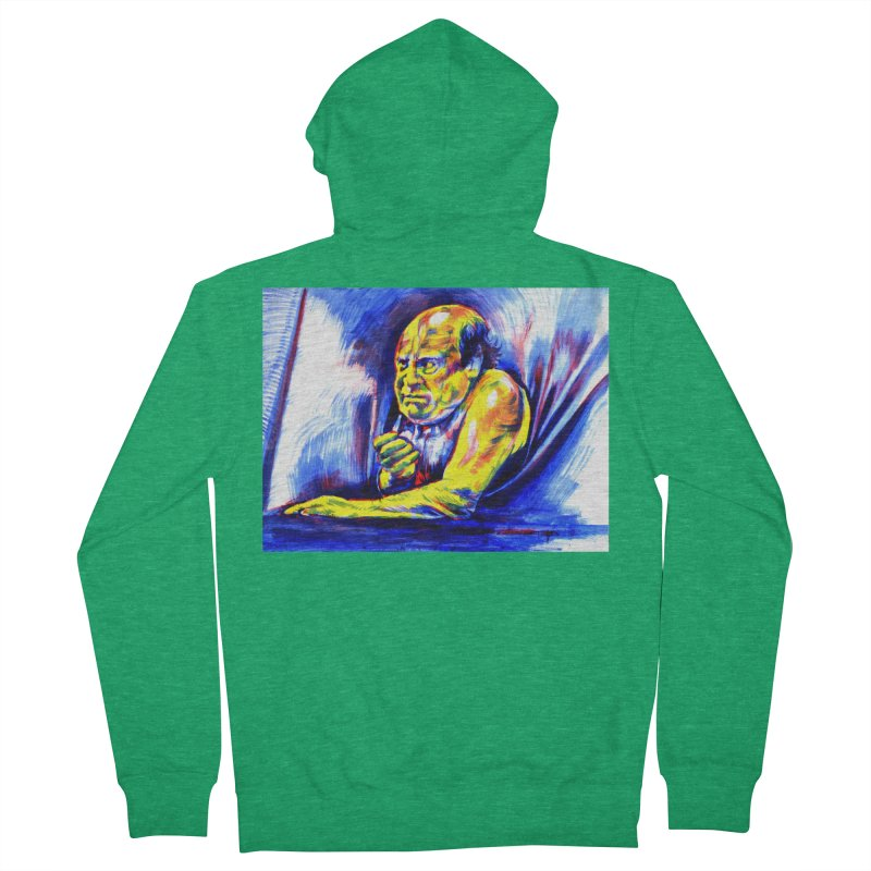 breakout Men's Zip-Up Hoody by paintings by Seamus Wray