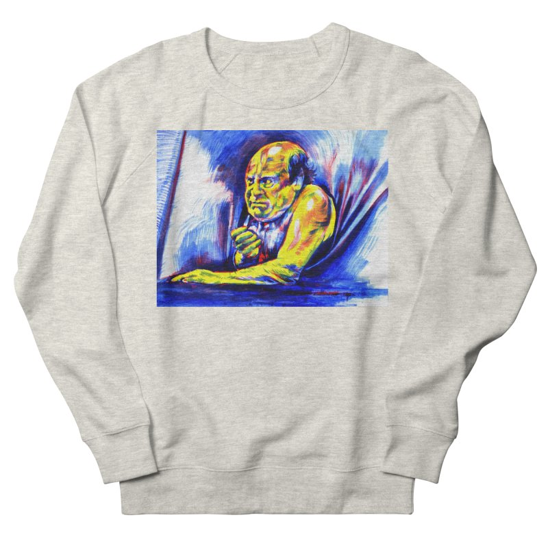 breakout Men's French Terry Sweatshirt by paintings by Seamus Wray