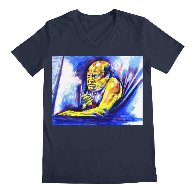 breakout Men's Regular V-Neck by paintings by Seamus Wray