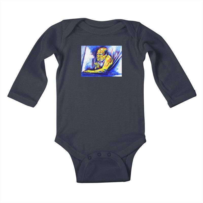 breakout Kids Baby Longsleeve Bodysuit by paintings by Seamus Wray