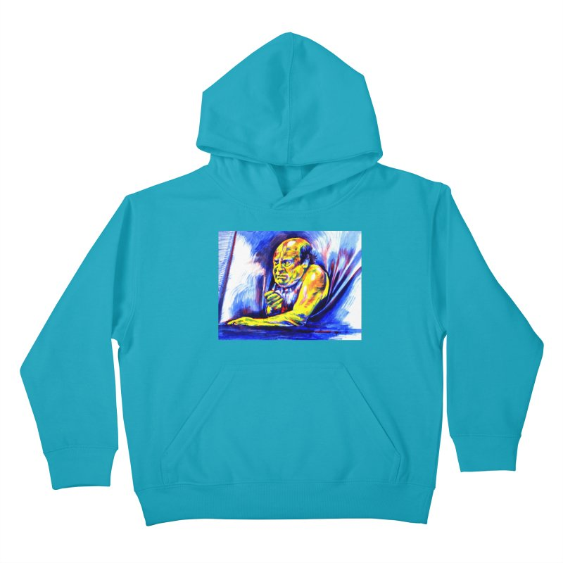 breakout Kids Pullover Hoody by paintings by Seamus Wray