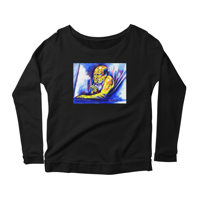 breakout Women's Scoop Neck Longsleeve T-Shirt by paintings by Seamus Wray