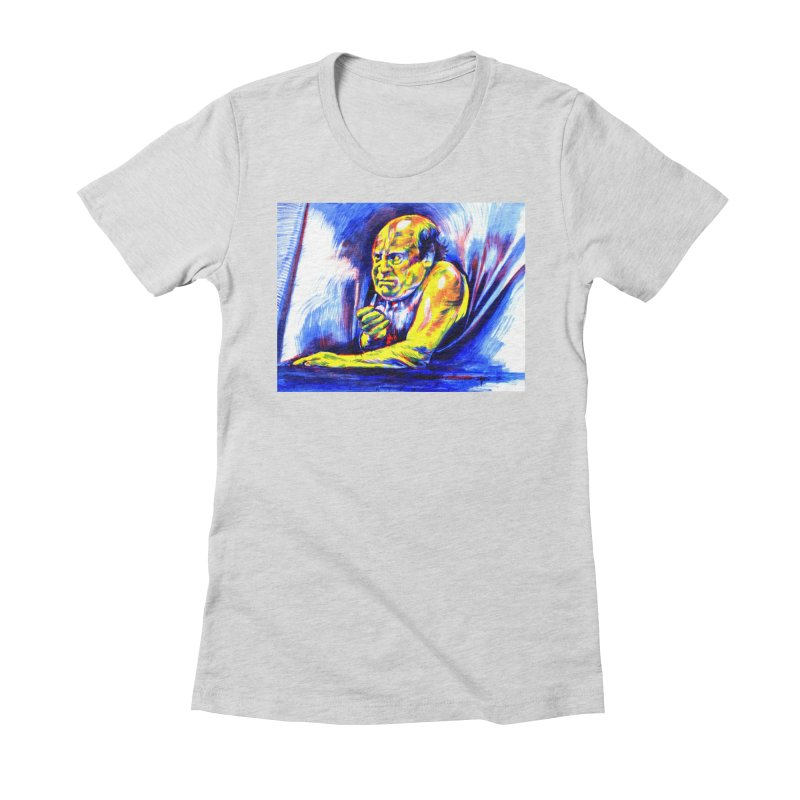 breakout Women's Fitted T-Shirt by paintings by Seamus Wray