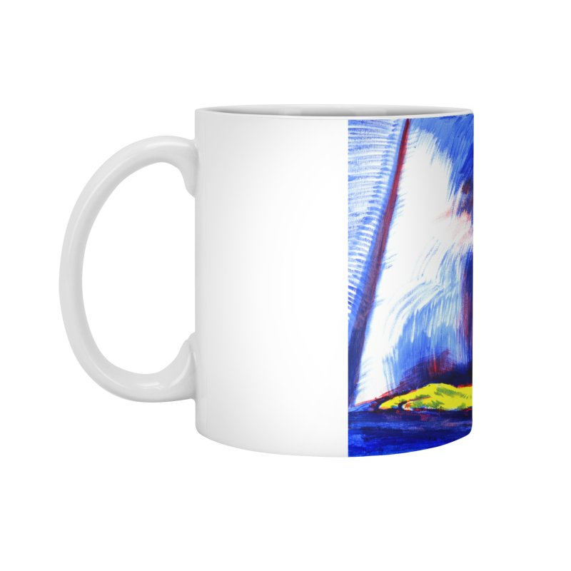 breakout Accessories Standard Mug by paintings by Seamus Wray