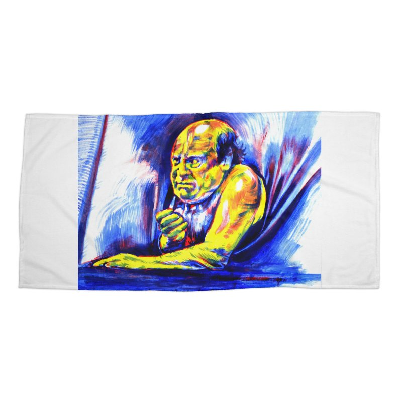 breakout Accessories Beach Towel by paintings by Seamus Wray