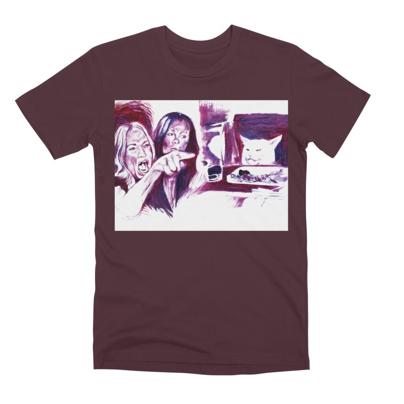 confused Men's Premium T-Shirt by paintings by Seamus Wray