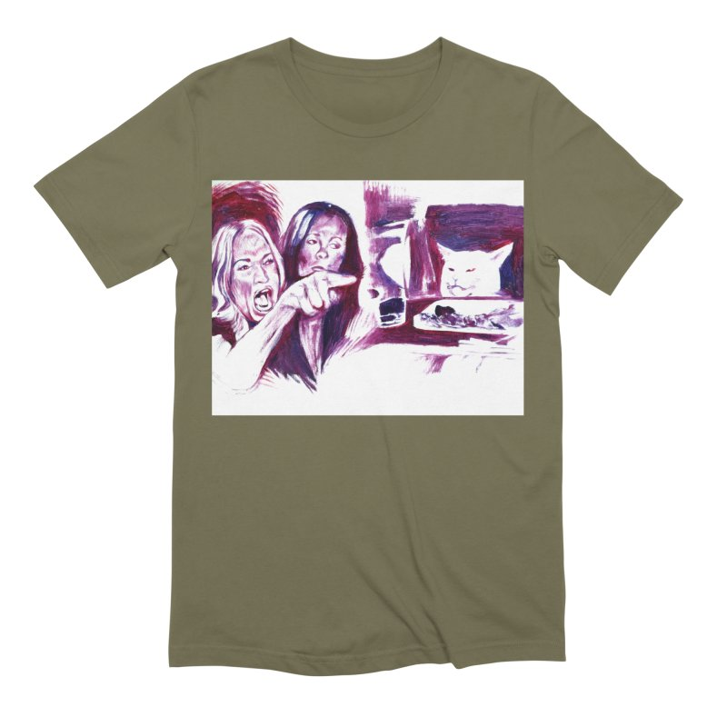 confused Men's Extra Soft T-Shirt by paintings by Seamus Wray