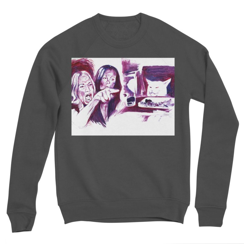 confused Women's Sponge Fleece Sweatshirt by paintings by Seamus Wray