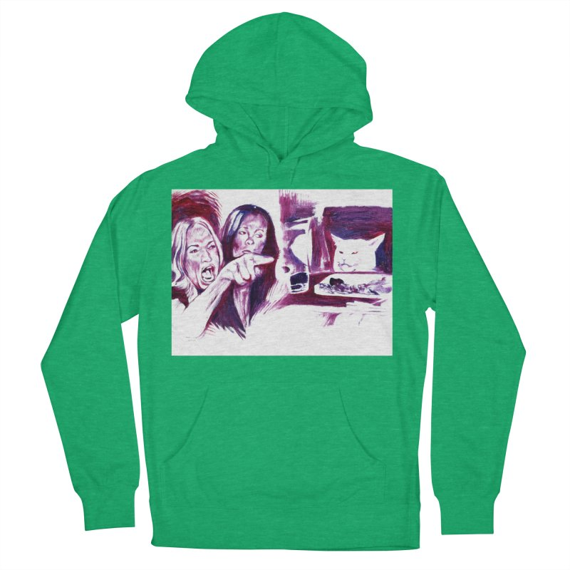 confused Women's French Terry Pullover Hoody by paintings by Seamus Wray