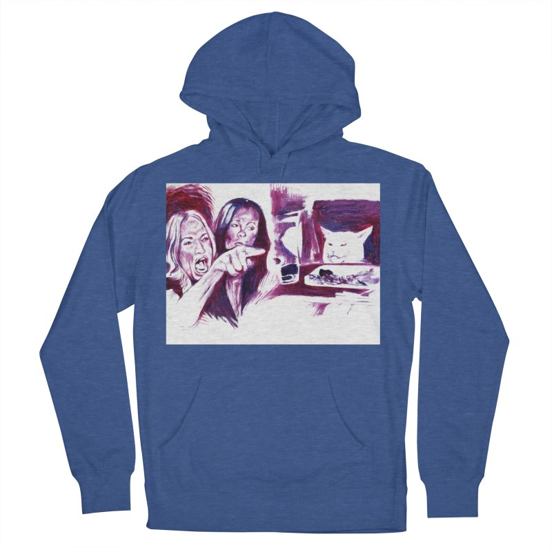 confused Men's French Terry Pullover Hoody by paintings by Seamus Wray
