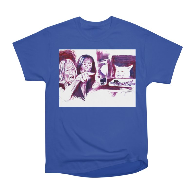 confused Women's Heavyweight Unisex T-Shirt by paintings by Seamus Wray