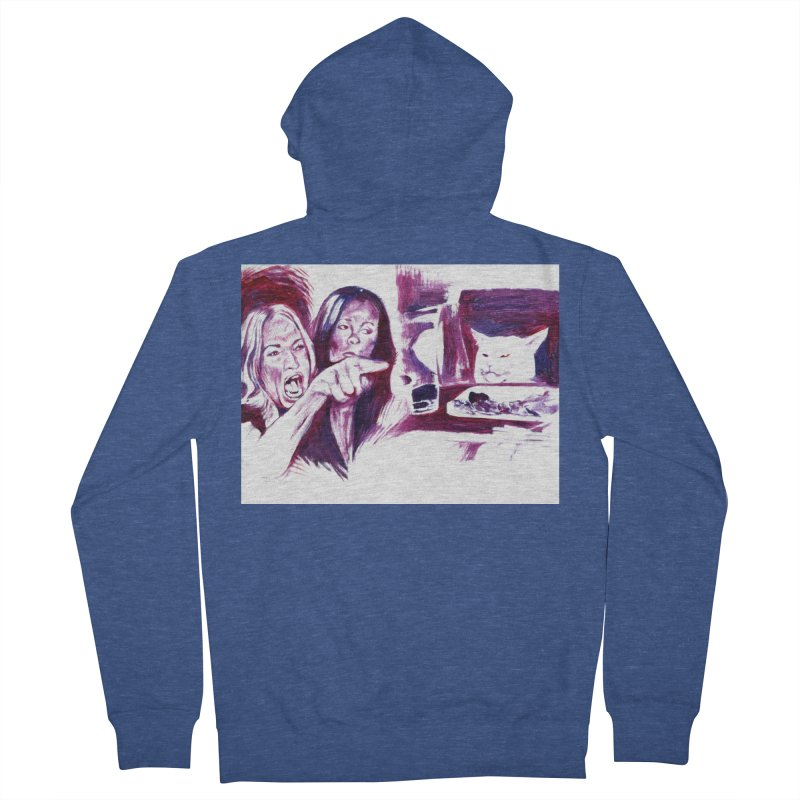 confused Women's French Terry Zip-Up Hoody by paintings by Seamus Wray