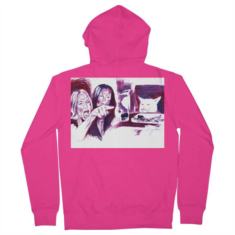 confused Men's French Terry Zip-Up Hoody by paintings by Seamus Wray
