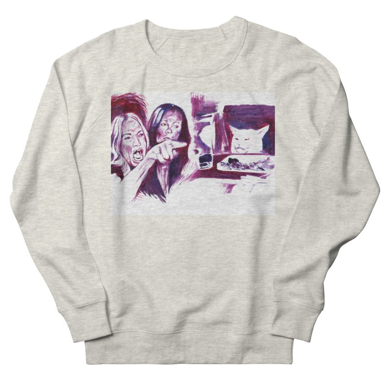 confused Women's French Terry Sweatshirt by paintings by Seamus Wray