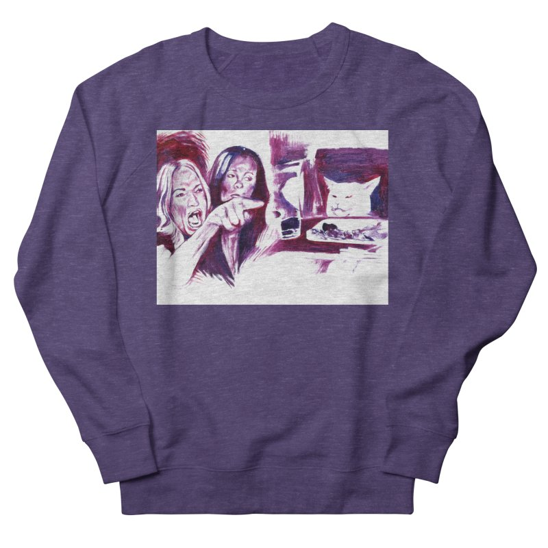 confused Men's French Terry Sweatshirt by paintings by Seamus Wray