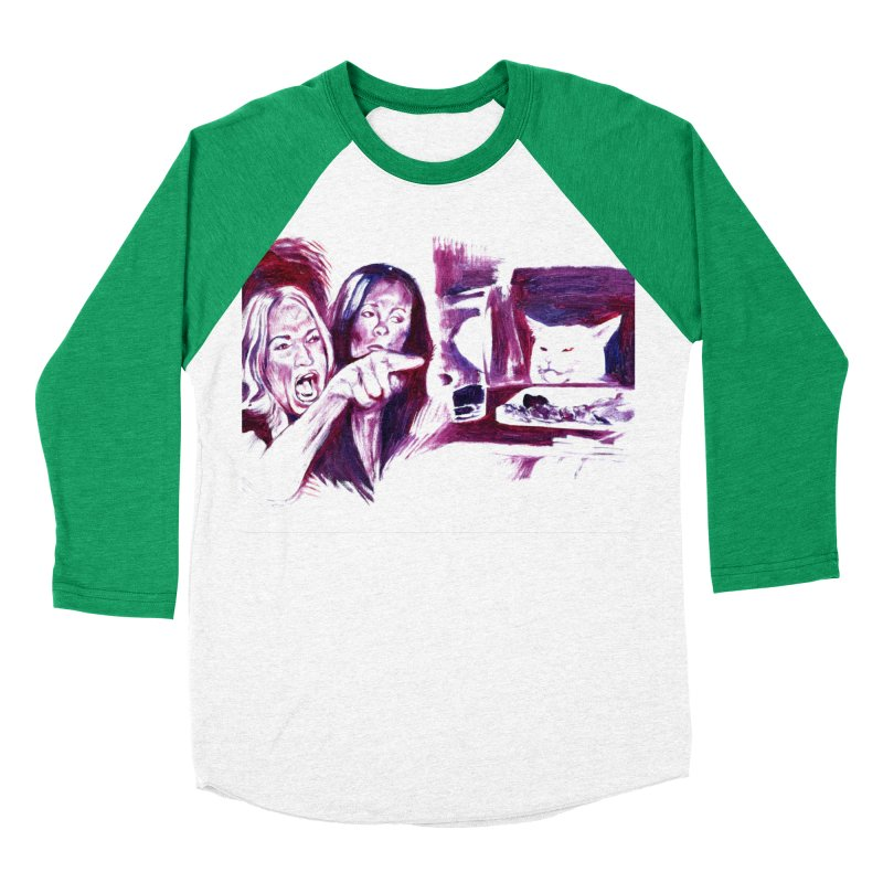 confused Women's Baseball Triblend Longsleeve T-Shirt by paintings by Seamus Wray