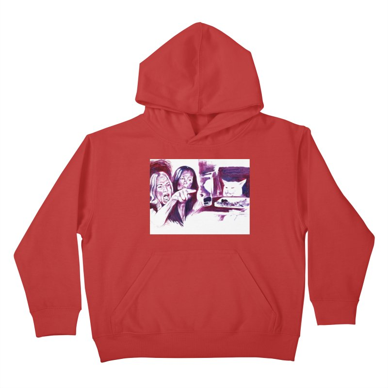 confused Kids Pullover Hoody by paintings by Seamus Wray
