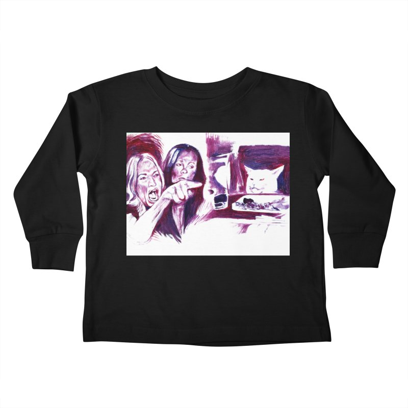 confused Kids Toddler Longsleeve T-Shirt by paintings by Seamus Wray