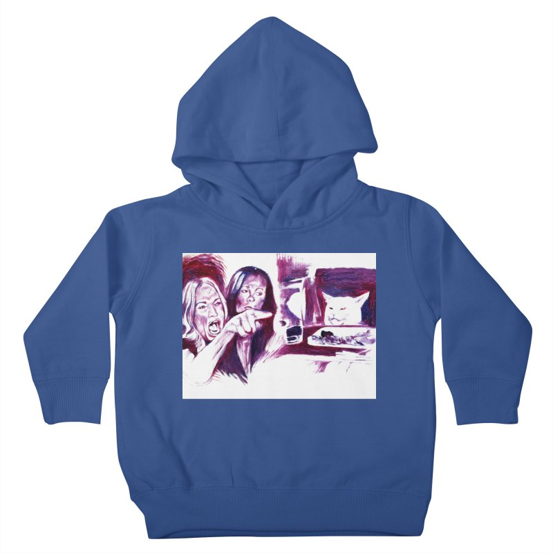confused Kids Toddler Pullover Hoody by paintings by Seamus Wray
