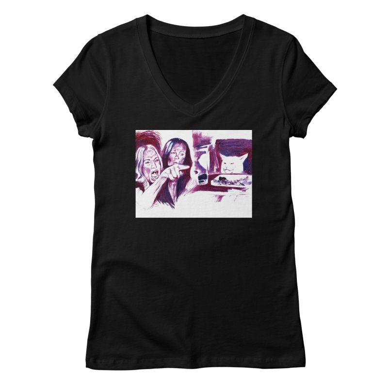 "confused Women's V-Neck by Art Prints by Seama available under ""Home"""