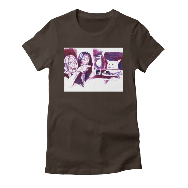 confused Women's T-Shirt by paintings by Seamus Wray