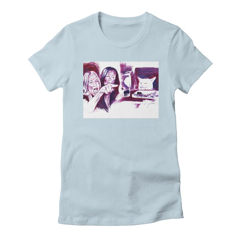 confused Women's Fitted T-Shirt by paintings by Seamus Wray