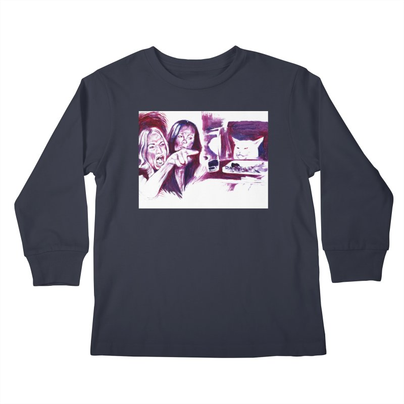 confused Kids Longsleeve T-Shirt by paintings by Seamus Wray