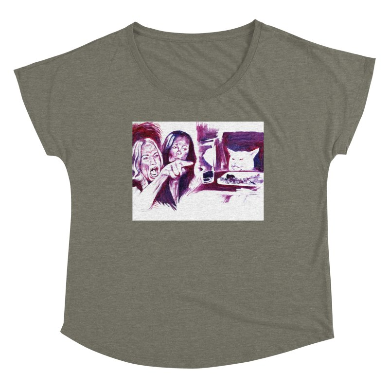 """confused Women's Scoop Neck by Art Prints by Seamus Wray available under """"Home"""""""