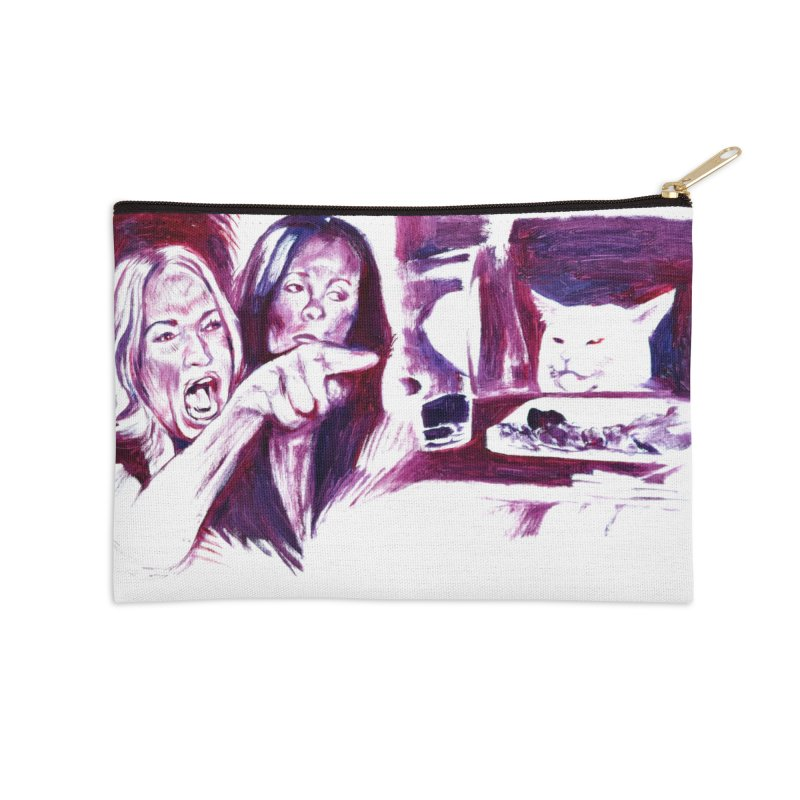 confused Accessories Zip Pouch by paintings by Seamus Wray