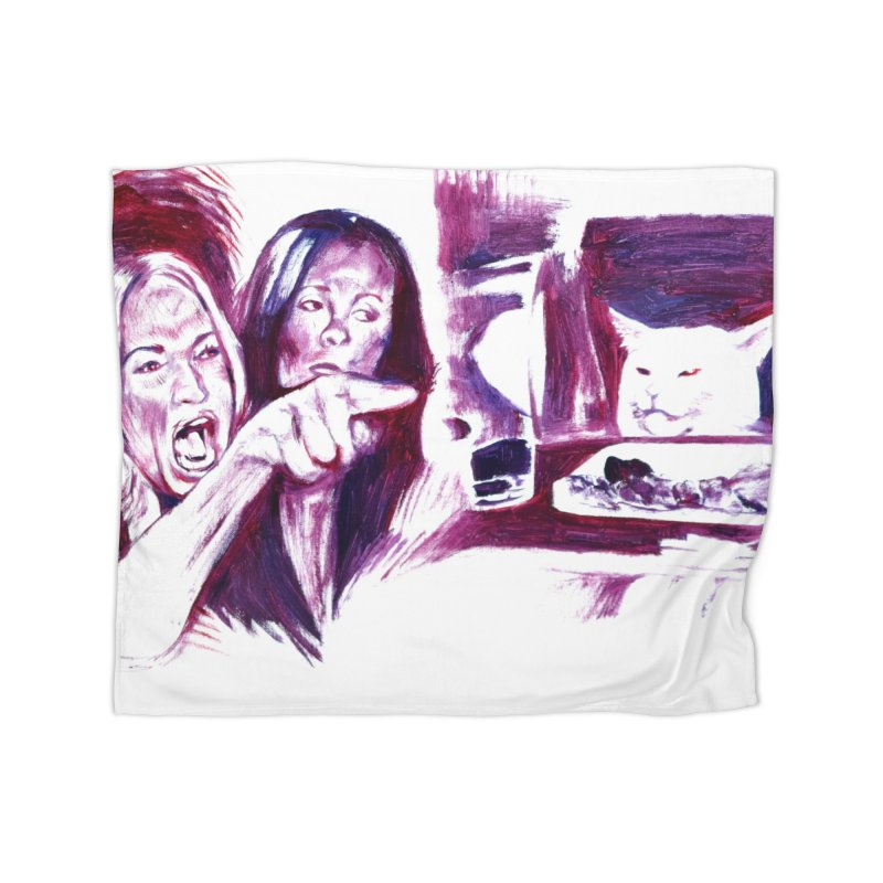 confused Home Blanket by paintings by Seamus Wray