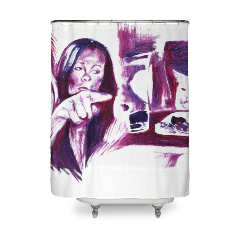 confused Home Shower Curtain by paintings by Seamus Wray