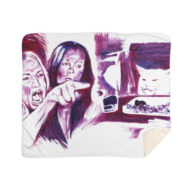 confused Home Sherpa Blanket Blanket by paintings by Seamus Wray