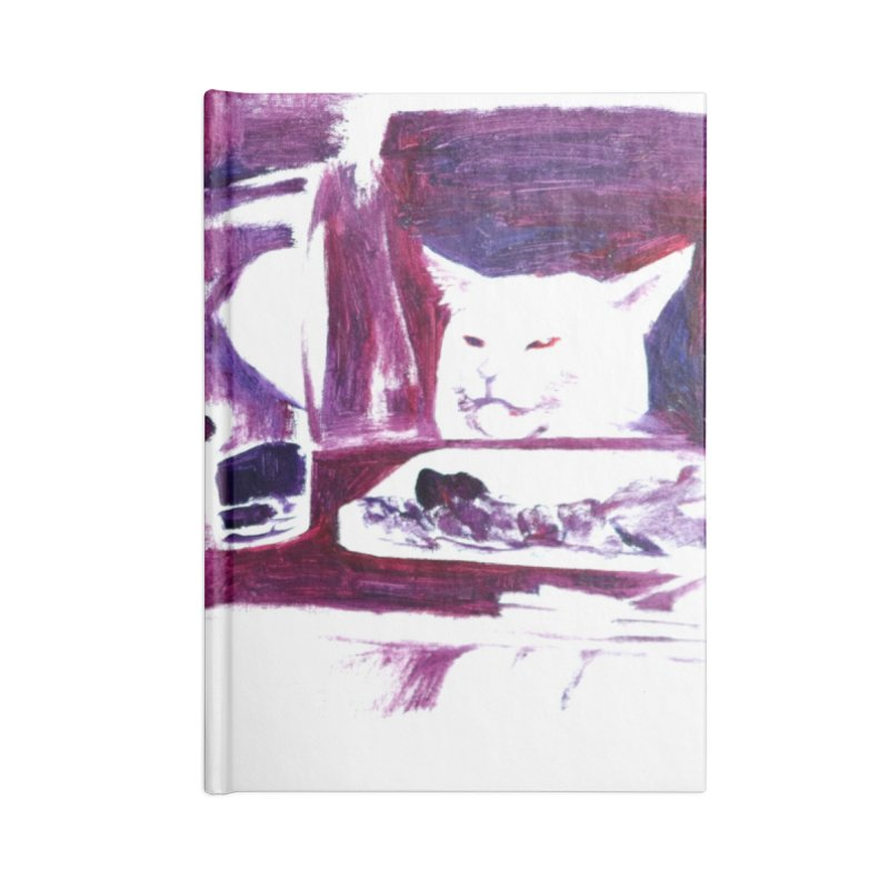 confused Accessories Blank Journal Notebook by paintings by Seamus Wray