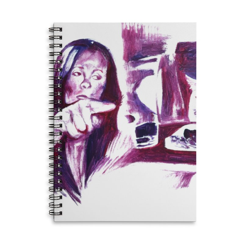 confused Accessories Notebook by paintings by Seamus Wray