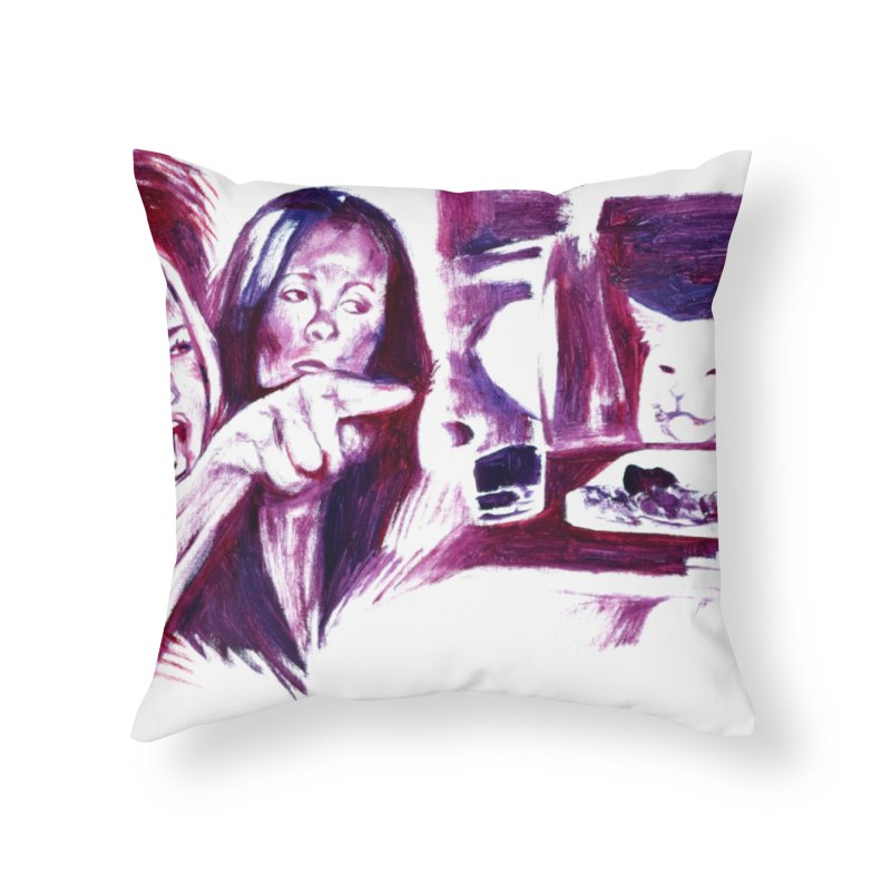 confused Home Throw Pillow by paintings by Seamus Wray