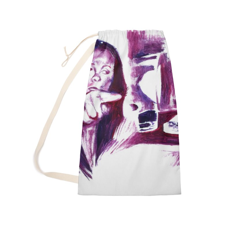 confused Accessories Laundry Bag Bag by paintings by Seamus Wray