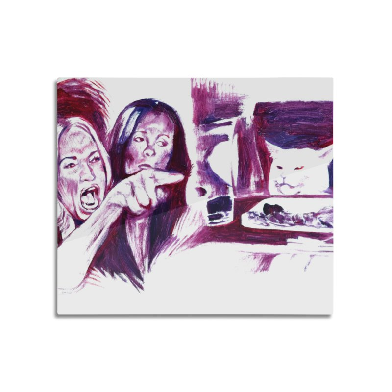 """confused Home Mounted Aluminum Print by Art Prints by Seamus Wray available under """"Home"""""""