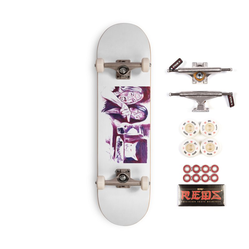 confused Accessories Complete - Pro Skateboard by paintings by Seamus Wray