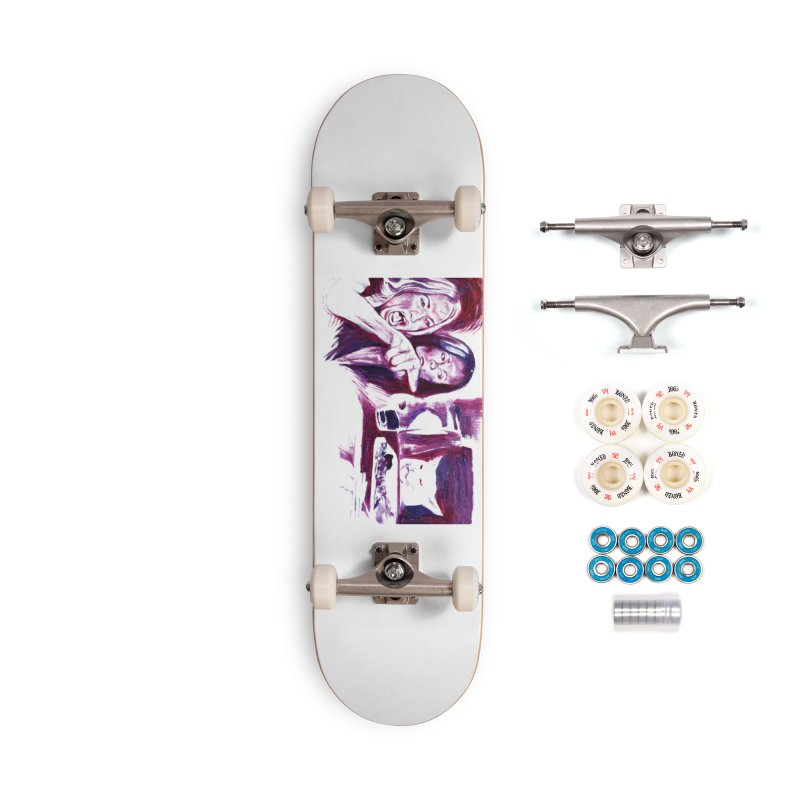 confused Accessories Complete - Premium Skateboard by paintings by Seamus Wray