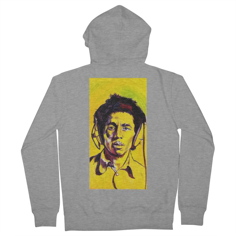 bob Men's French Terry Zip-Up Hoody by paintings by Seamus Wray
