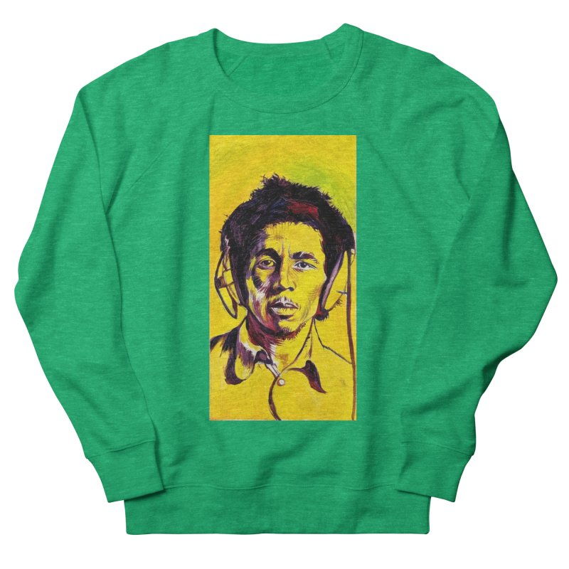 bob Men's French Terry Sweatshirt by paintings by Seamus Wray