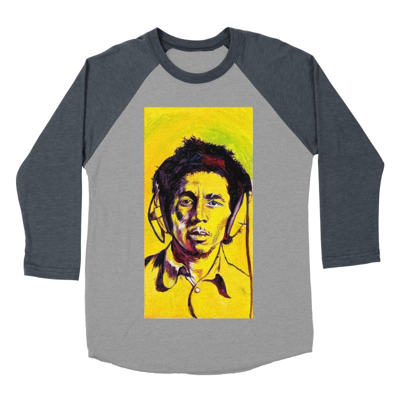 bob Men's Baseball Triblend Longsleeve T-Shirt by paintings by Seamus Wray