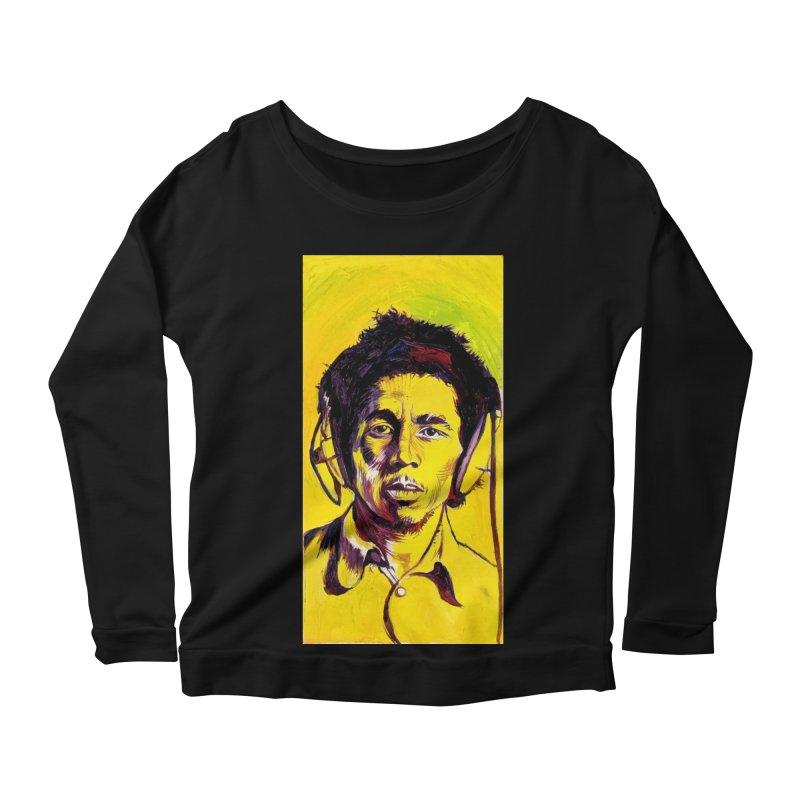 bob Women's Scoop Neck Longsleeve T-Shirt by paintings by Seamus Wray