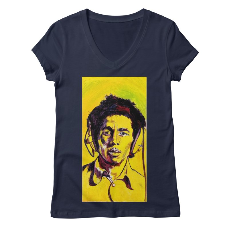 bob Women's Regular V-Neck by paintings by Seamus Wray