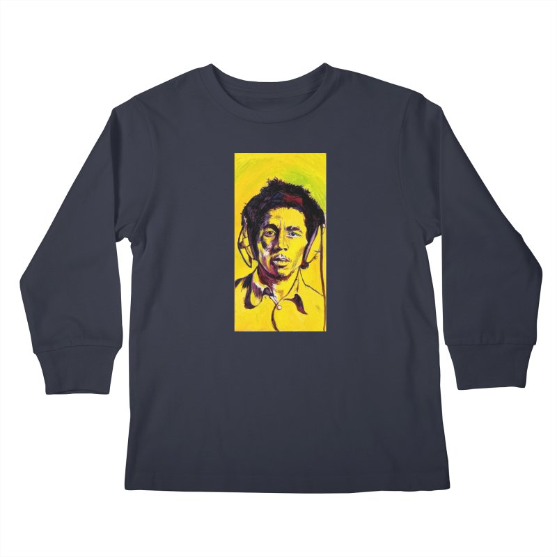 bob Kids Longsleeve T-Shirt by paintings by Seamus Wray