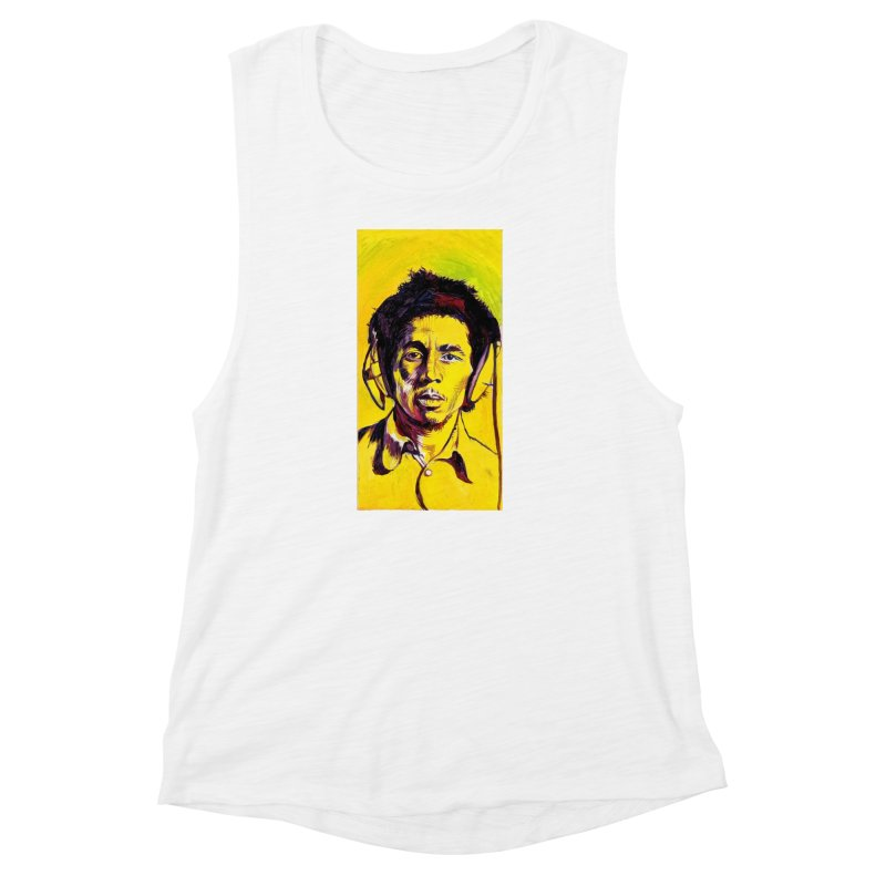 bob Women's Muscle Tank by paintings by Seamus Wray