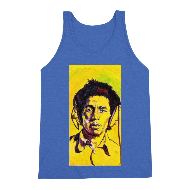 bob Men's Triblend Tank by paintings by Seamus Wray